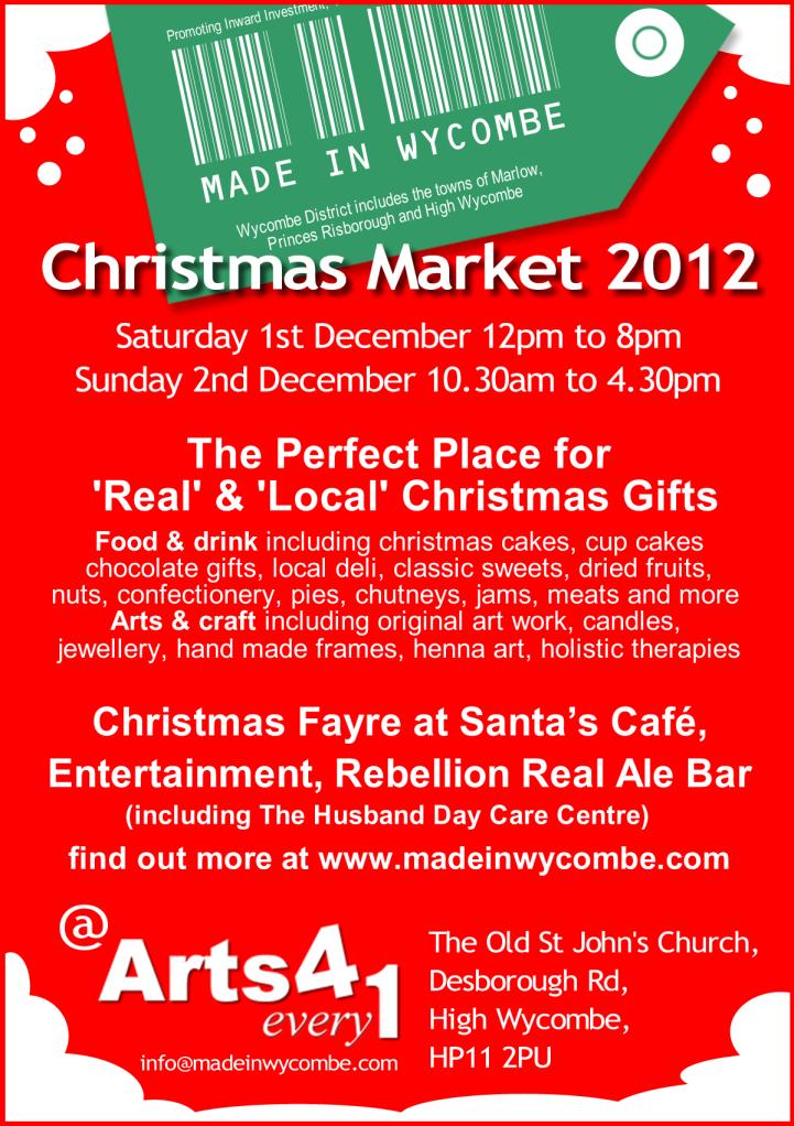 High Wycombe Christmas Market 2012 steelasophical steel band