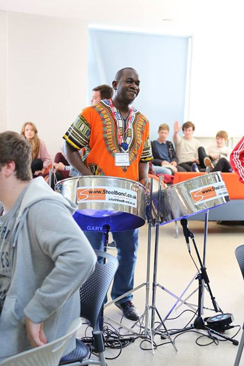 Bexhill College Black history month Gary trotman Steelasophical Steel band pan