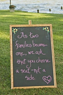 wedding reception day sign