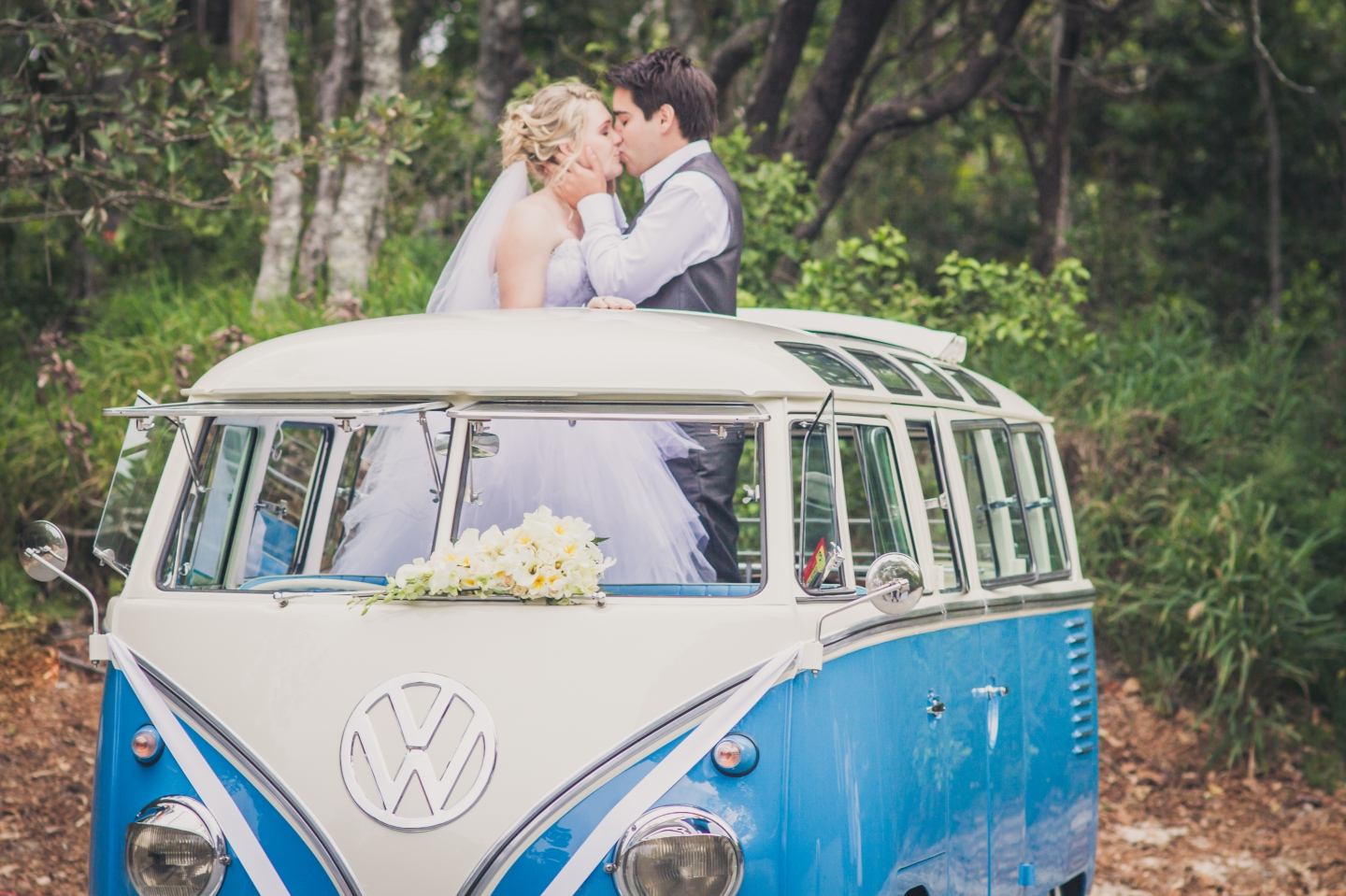 VW Camper Wedding Ride