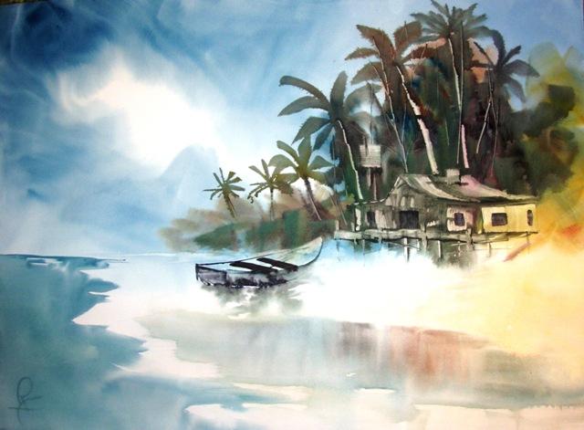 The Caribbean in watercolor nn