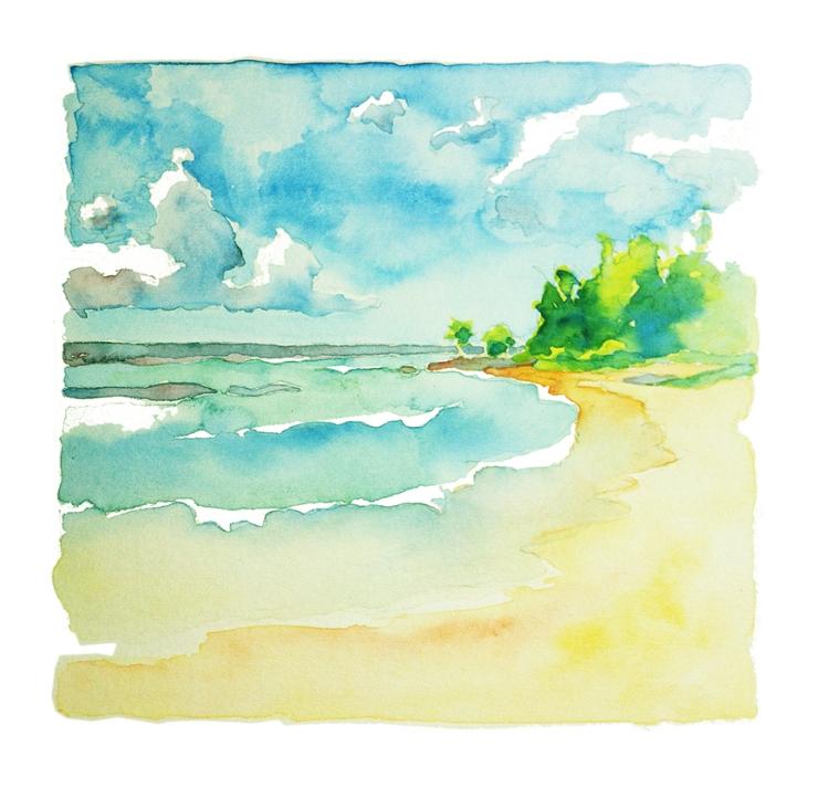 The Caribbean in watercolor de