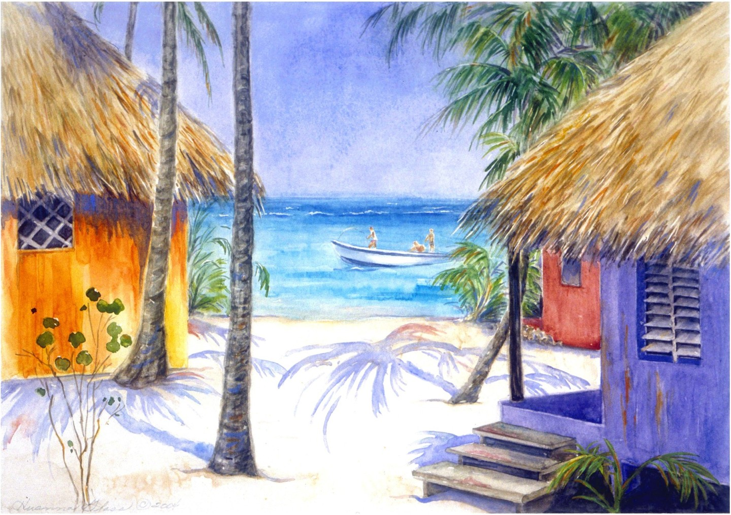 The Caribbean in watercolor dd