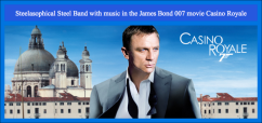 Gary Trotman Steelasophical Steel band 007 James Bond Casino Royale qas