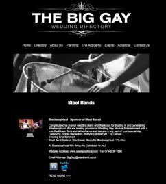 http://www.thebiggayweddingdirectory.com/steelbands.html