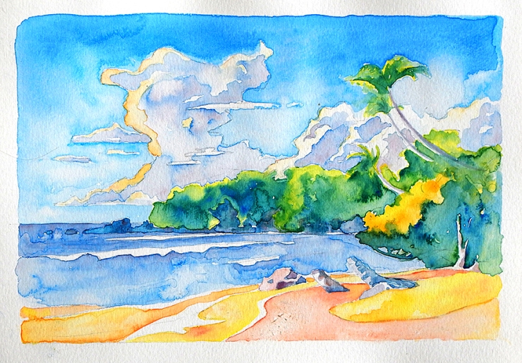 The Caribbean in watercolor r