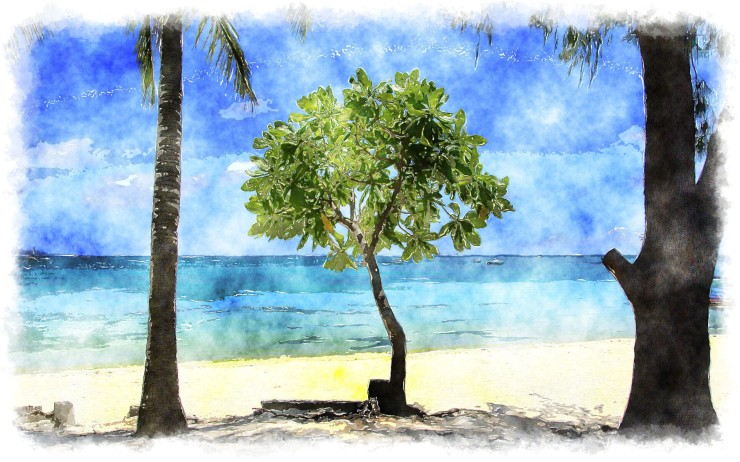 The Caribbean in watercolor d