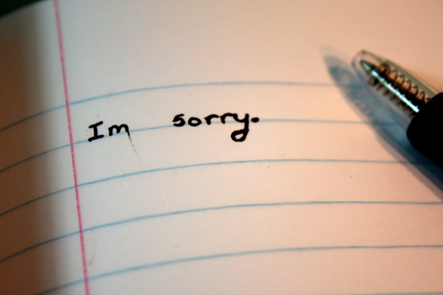 Don't Just SAY You're Sorry - Prove It