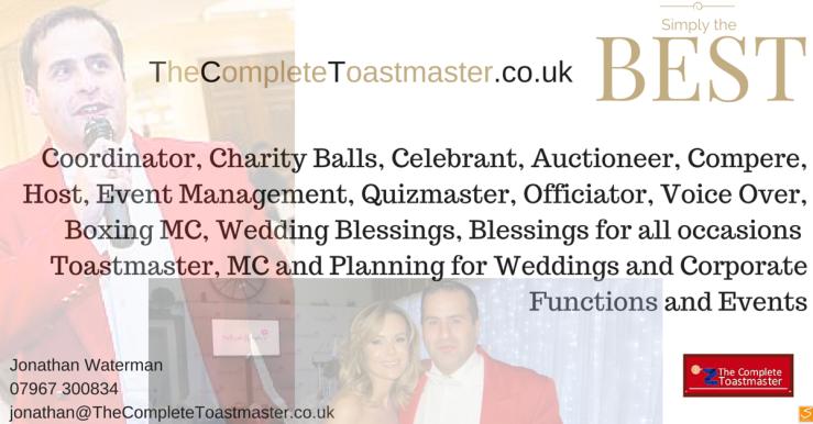#toastmaster Jonathan waterman