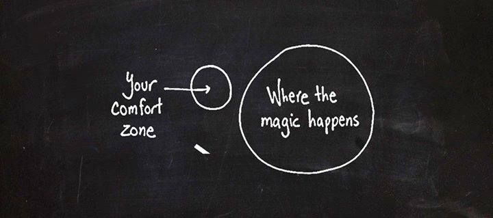 where the magic happens outside your comfort zone
