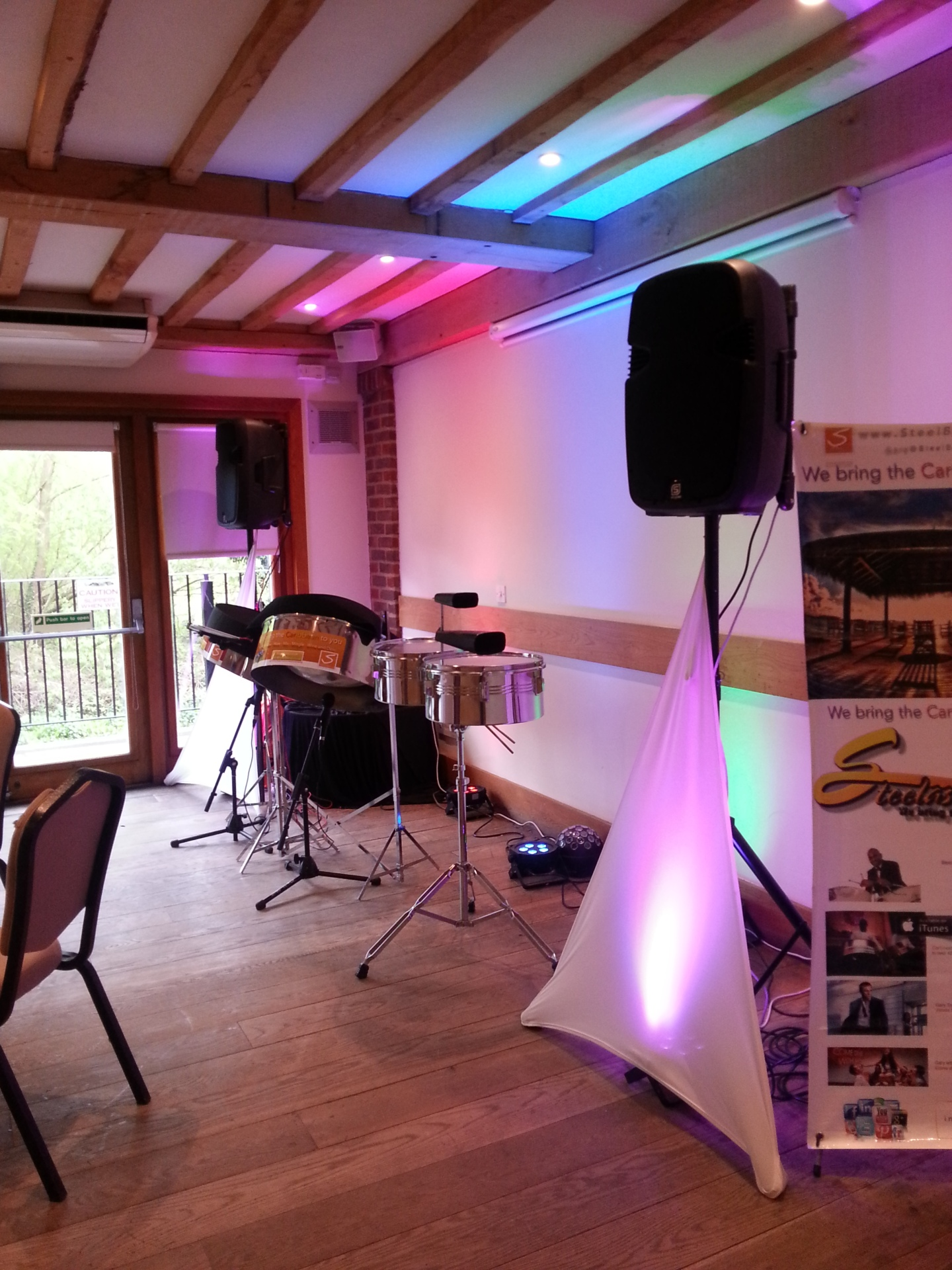 Steelasophical Wedding Steel Band Duo Tewin Bury Farm