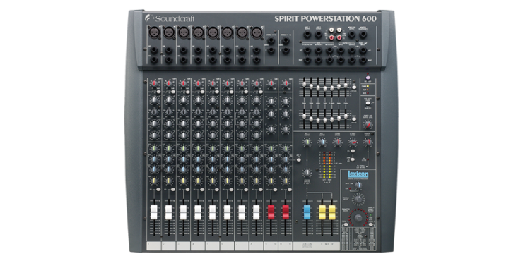 Soundcraft Spirit Powerstation 600 Steelasophical Mixer of Choice